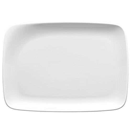 Thomas Quadrondo Plat Carré, Plat de Service, Porcelaine, Blanc, Passe au Lave-Vaisselle, 28 cm, 12928