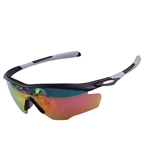 Retro Vintage Sonnenbrille, für Frauen und Männer PC Polarized Sports Sonnenbrillen Radfahren Laufen Angeln Golf Klettern farbige Unisex Männer Frauen Winddicht Anti-UV UV-Schutz (Farbe : Grau)