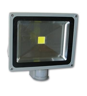 LED Außenstrahler 30 W, Fluter Strahler mit Bewegungsmelder IP65