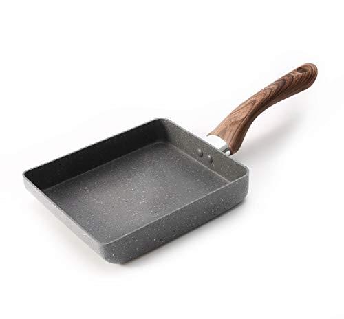 Zaigon All in 1 Pfanne - Induktion + Spülmaschine geeignet - Kleine Pfanne - Omelett Pfanne - Tamagoyaki Pfanne - Tamago Pfanne - Bratpfanne - Sushi Pfanne