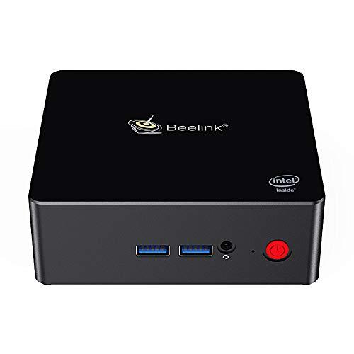 Beelink X55 Mini PC DDR4 8G/256G MSATA SSD Intel Gemini Lake Pentium J5005 Processor Mini Computer Windows 10 Dual HDMI2.0 4K 60FPS Output/WiFi 2.4+5.8GHz /SATA3.0 1000Mbps LAN /USB3.0