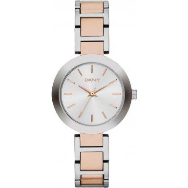 DKNY NY2402 - Reloj de cuarzo con correa de acero inoxidable para mujer, color plateado de DKNY