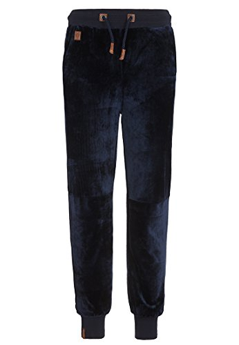 Naketano Male Bottom Schnellbumser Mack III Dark Blue, S (Blau Hose Velour)