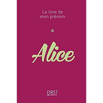 11 Le Livre de mon prénom - Alice