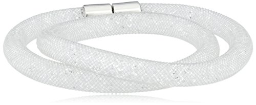 Swarovski - 5089840, Bracciale con vetro donna, bianco, 40 centimeters