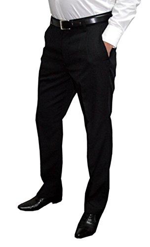 Mens Fashion Herren Anzughose Hose mit Bundfalte / in untersetzten und normalen Größen (Gr. 23-33 / 44-62) / verschiedene Farben Schwarz