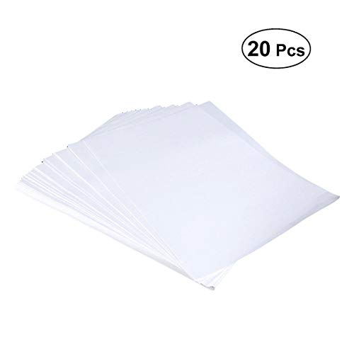 Healifty 20PCS Heat Transfer Printing Paper A4 Sublimation transfer Paper (bianco)
