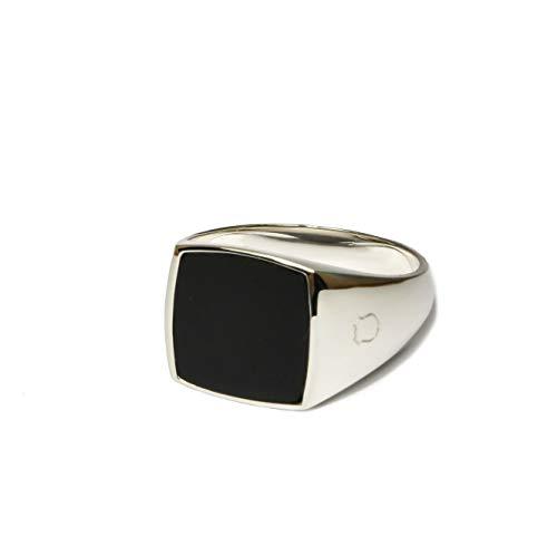 Siegelring aus 925 Sterling Silber für Männer mit Onyx Stein   Schmuck Herrenring in den Ringgrößen 58 bis 64 von Sprezzi Fashion aus Deutschland (silber...