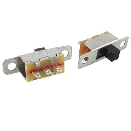 SeaStart 5 Stück x On-Off 2 Positionen SPDT 1P2T Panel Mini Schiebeschalter Solder Lug SS12F15G3 -