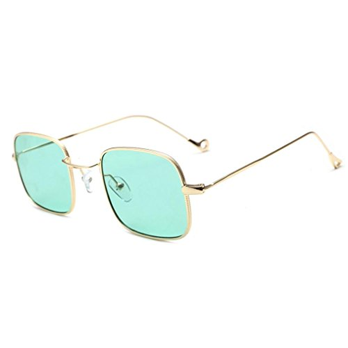 Dragon868 Frauen Fashion Quadrate Shades Sonnenbrille Integrierte UV Candy Farbige Gläser (E) (Glas Integrierte)