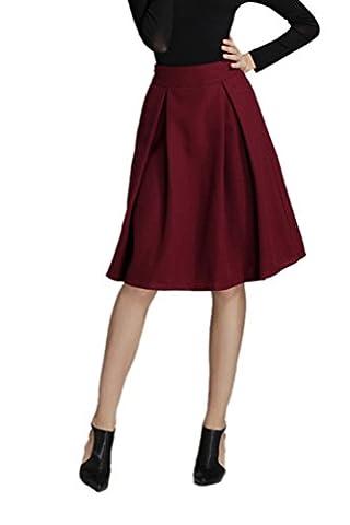 CHENGYANG Women's Elegant Vintage Pleated Skirts Full Circle Knee Length
