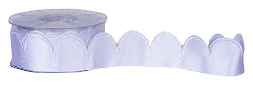 Furlanis h1350_13_25 nastro portaconfetti (90 pezzi da 5 petali), taffettà, bianco ottico, 15x15x7 cm