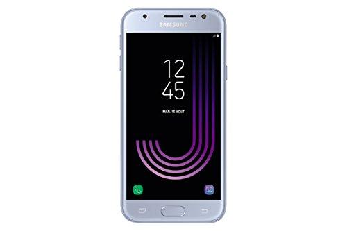 Samsung Galaxy J3 2017 Smartphone débloqué 4G (Ecran : 5 pouces - 16 Go - Nano-SIM - Android) Argent