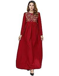 Acqrobe Robes de Kaftan Musulmanes - Robe Maxi brodée élégante Dubaï  Islamique Abaya Jilbab Turque Robes f4144bf6cdd