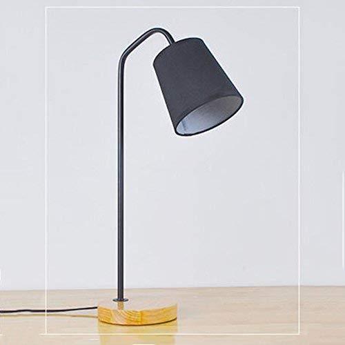 Schlafzimmer Einfache Holzlampe Kreative Nordic Learning Lampe Nachttischlampe Antike Lampe Salonlampe Stofflampe, BOSS LV, Schalter mit schwarzer Taste