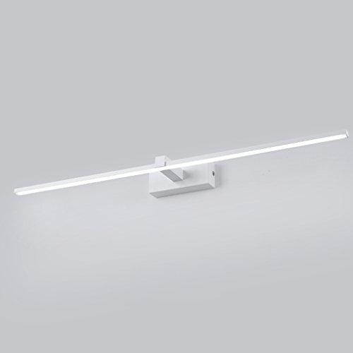LED Spiegel Kopf Licht, Waschbecken Licht, Badezimmer Wandleuchte, Make-up Tischlampe, Badezimmer wasserdichte Nebel Wandleuchte, Schmiedeeisen Basis, Acryl-Maske (Color : Flat models-80cm) -