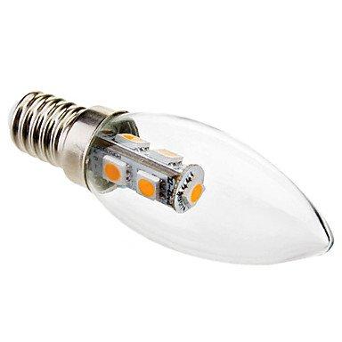 FDH 1W E14 C35 Luces de velas LED SMD 7 5050 70 lm decorativo blanco cálido 220-240 V CA