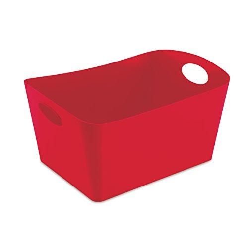 koziol Aufbewahrungsbox 15 L Boxxx L,  Kunststoff, solid himbeer rot, 31 x 48 x 23,7 cm (Rote Kunststoff-wäschekorb)