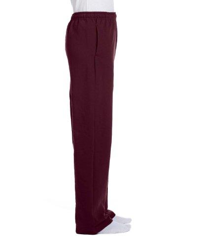 Jerzees da uomo Nublend Pocketed open-bottom Sweatpants Maroon