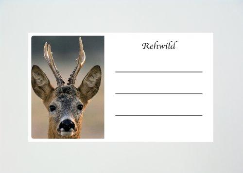 Preisvergleich Produktbild 50 Stück Rehwild Wildaufkleber Jagdaufkleber Wildbretaufkleber