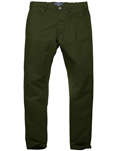 Match Pantalons Casual Slim Tapered Stretch pour Homme #8050 8060 Armée vert(Army green)