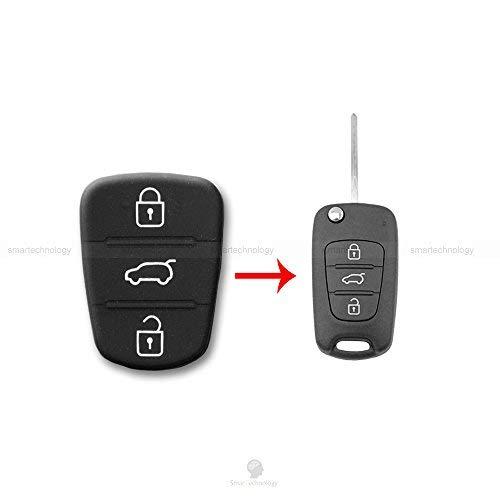 Llave de mando para coche con 3 botones de goma. Hyundai I20 I30 y Kia Sorento Picanto