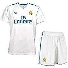 BOX SET 1ª EQUIPACION REAL MADRID REPLICA OFICIAL 2017-2018-TALLA 14 AÑOS