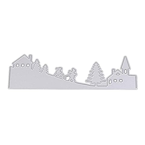 Dairyshop Paysage de neige en acier carbone Coupe de coupe Die Pochoir DIY Album de scrapbooking carte Decor