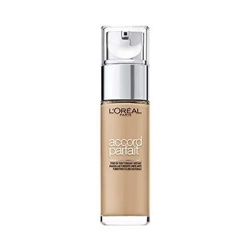 L'Oréal Paris Fondotinta Fluido Coprente Accord Parfait, Risultato Naturale, No Effetto Maschera, 3D/3W Beige Doré/Golden Beige