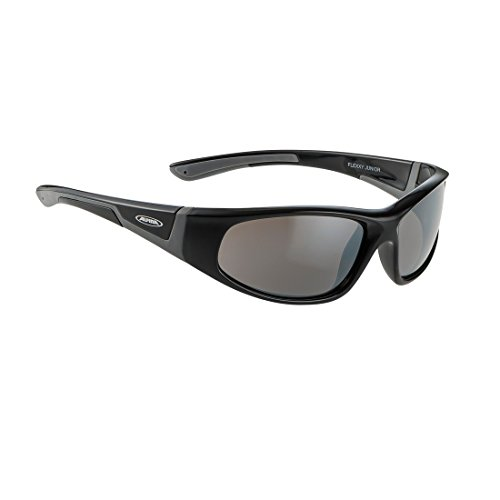 Alpina Kinder Sonnenbrille FLEXXY JUNIOR Outdoorsport-brille, Black-Grey, One Size