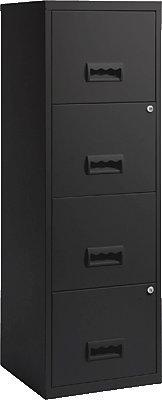 Pierre Henry 799598 - Mueble archivador 4 cajones, color negro