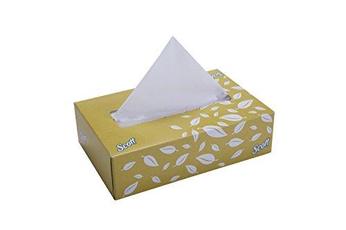 Scott 60046 Facial Tissue, 100 Sheets Per Box, 2 Ply, 4 Box Combo, 21 cm x 21cm