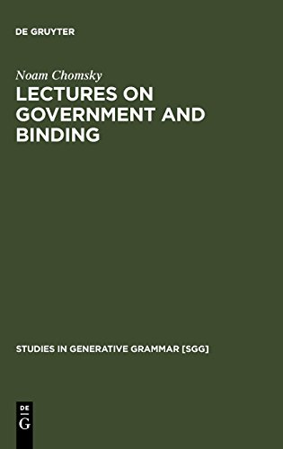 Lectures on Government and Binding: The Pisa Lectures (Studies in Generative Grammar [SGG], Band 9)