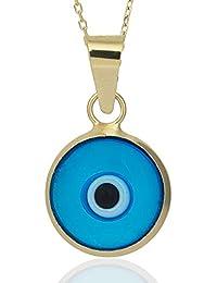 Blaues Auge Nazar Boncuk Talisman Anhänger Silber 925 Dreieck