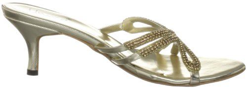 Unze Evening Slippers, Sandali donna Oro (Gold (L18159W))