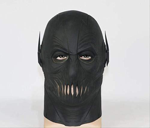 Kinder Latex Flash Maske - tytuoling Partei Schwarze Maske, Atmungsaktive Vollkopf-Latex-Maske,