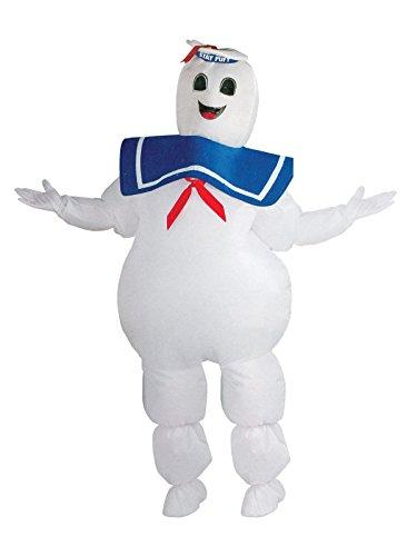 Aufblasbares Ghostbusters Marshmallow Man Kostüm Lizenzware weiss blau M/L
