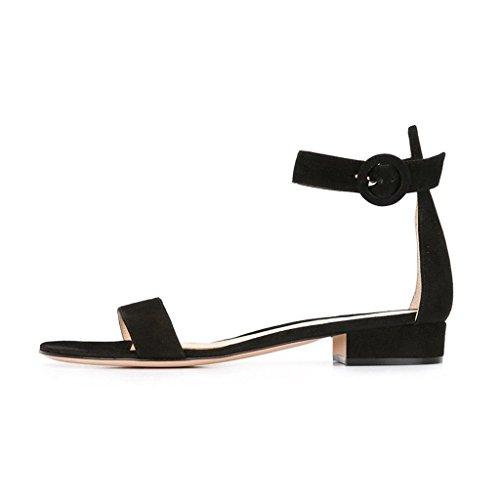 EDEFS - Chaussures Femme - Ballerines Bride Cheville Femme - Chaussures Femme Ballerines Plat Noir