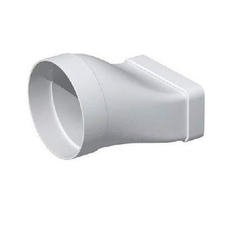 manchon plat pvc rigide - rectangulaire 55 x 220 mm vers rond 125 mm