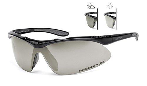 ARCTICA Photochromatische Sportbrille S-195F aus Polycarbonat Antifog Behandlung. Einstellbare Linsendunkelheit. Radsports Laufen