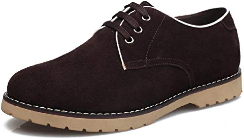 Hombres Zapatillas De Deporte Primavera Zapatos De Cuero Ante De Vaca Zapatos Casuales Zapatos con Cordones -