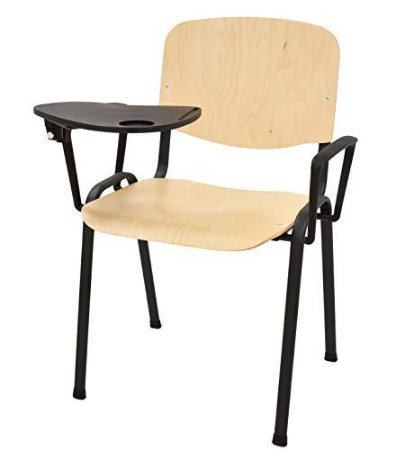 Grupo SDM Pack de 6 sillas Aula con Pala Escritura y Brazo,...