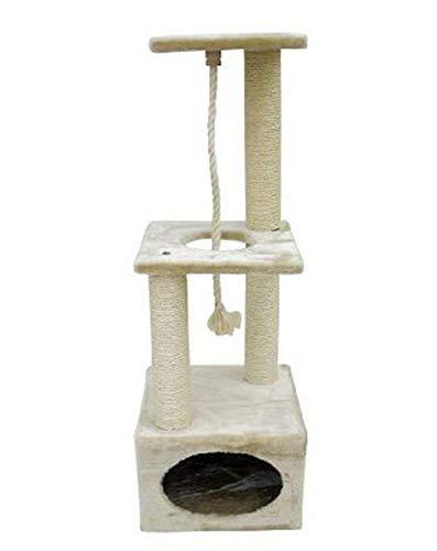 Dixinla Katzenbaum Möbel Katzenstreu Katze Baum Sisal Cat Scratch Board Greifen Spalte Cat Katzenspielzeug 37 * 37 * 109 cm -