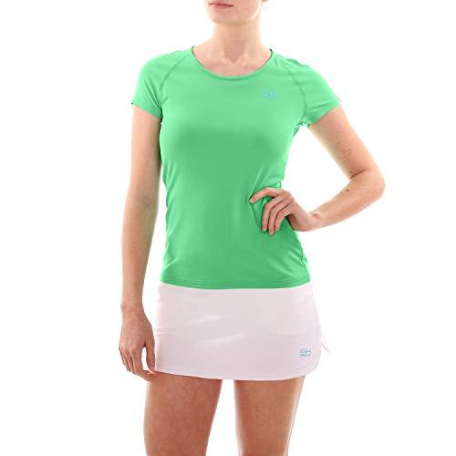 Sportkind Mädchen & Damen Tennis/Fitness/Sport T-Shirt, grün, Gr. 158