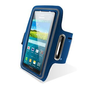 "Theoutlettablet® Brazalete Neopreno deportivo para Smartphone Bq Aquaris E5 / M5 5"" para correr / running / deporte Color - AZUL"