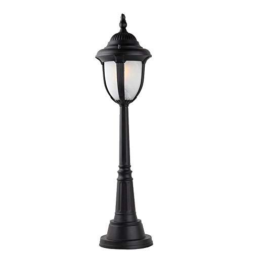 Leuchtstofflampen Stehleuchte (XIAOOL 77CM 1-Light Outdoor Lawn Light Stehleuchte Einfache Moderne Villa Column Lamp Post Licht Patio Garten Dekoration Lichter wasserdichte Tischleuchte E27 Dekoration Beleuchtung, schwarz)