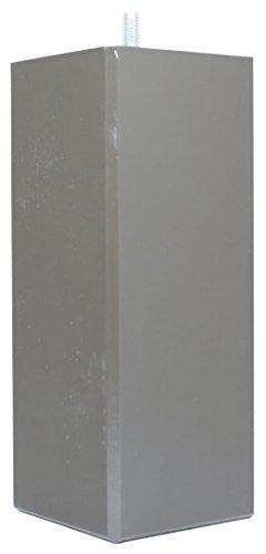 La Fabrique de Pieds Jeu de 4 Pieds de Lit, Bois, Laqué Chocolat, 15 x 8 x 8 cm