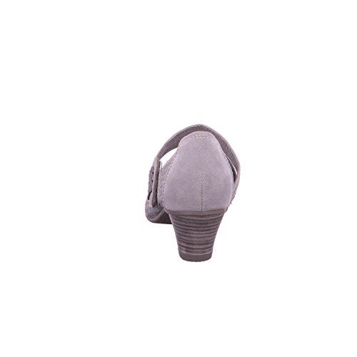 Fermagli donne Pompe Jana grigio argento cuoio formato 36-40 in larghezza-H Grigio/Argento