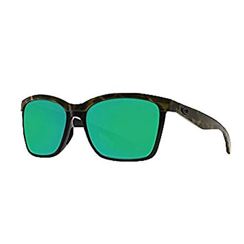 Costa Del Mar New anaa 109Olive Shiny deliktrechts auf Schwarz Sonnenbrille für Damen, Grün, ANA109OGMP