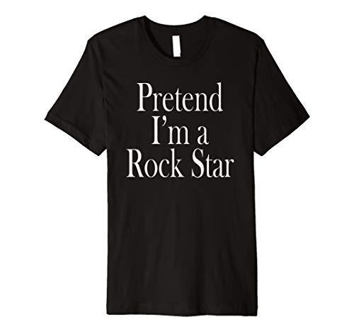 (Rock Star Kostüm T-Shirt für die letzten Minute Party)